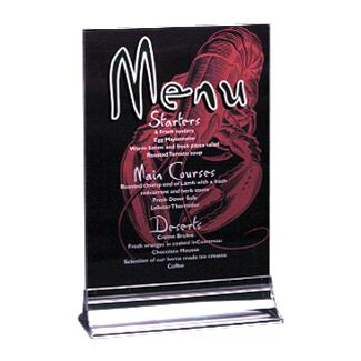 A4 Double Sided Menu Holder (Priced & Packed in 10s)