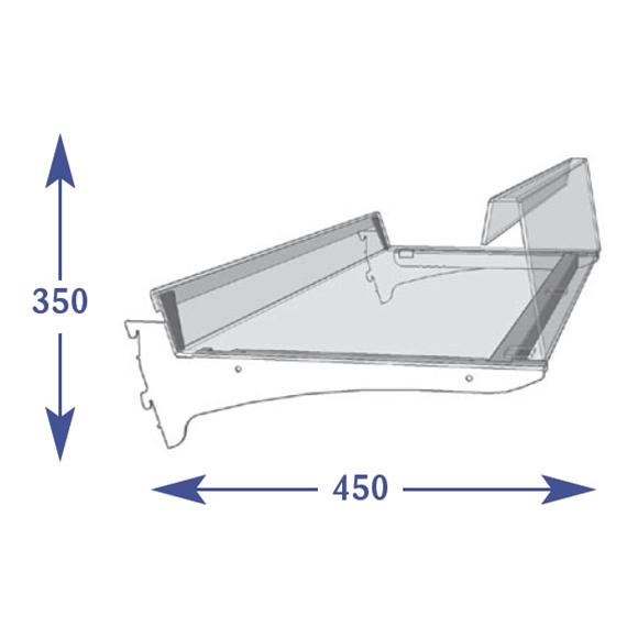 Adjustable Snacks - 400mm Shelf (to suit 450mm)