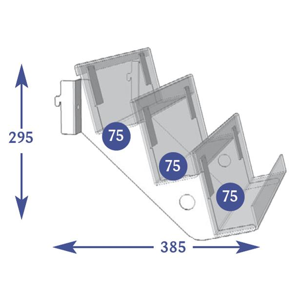 Multimedia Individual Shelves 3 Tier 75mm Dvd Cd