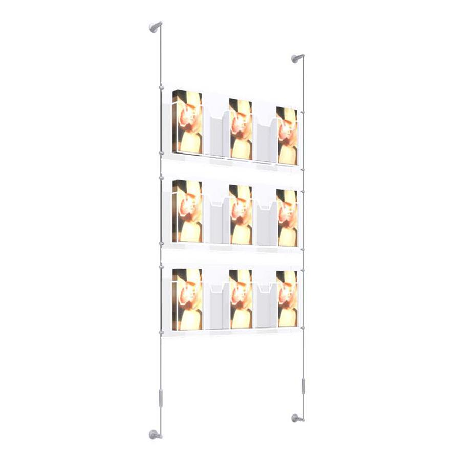 Wall Mounted Quintuple Leaflet Dispenser Kit 1/3 A4 x 3 high