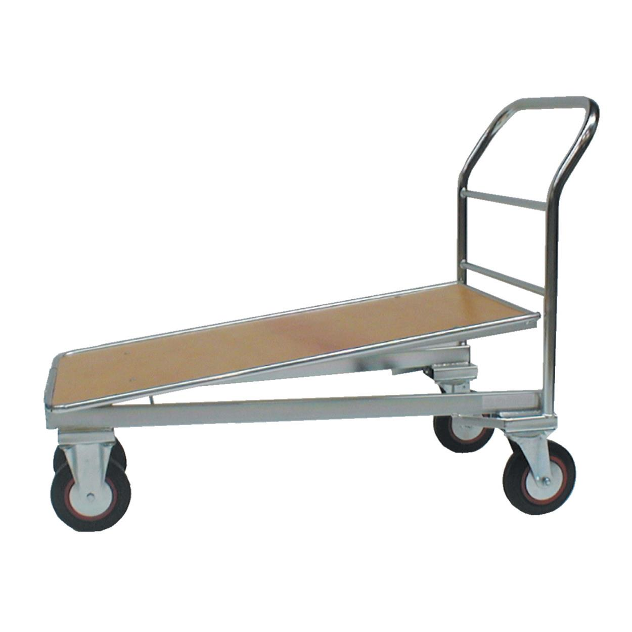 Cash And Carry Trolley Zinc With Wooden Base