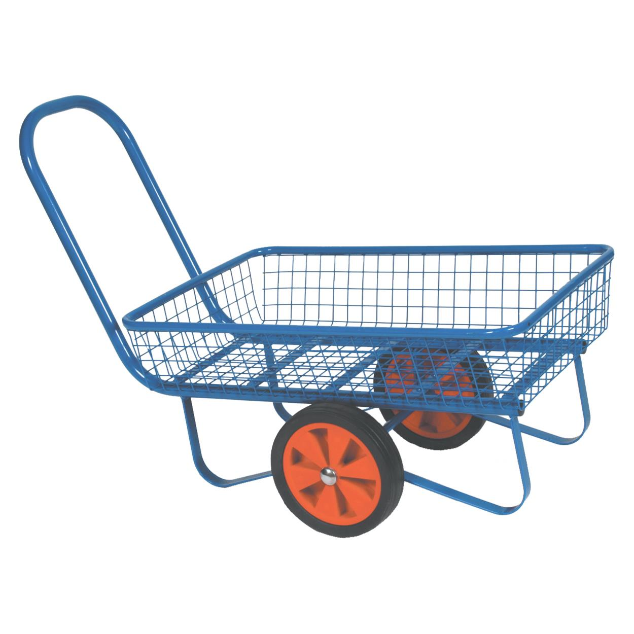 Powder Coated Garden Centre Trolley Flatbed