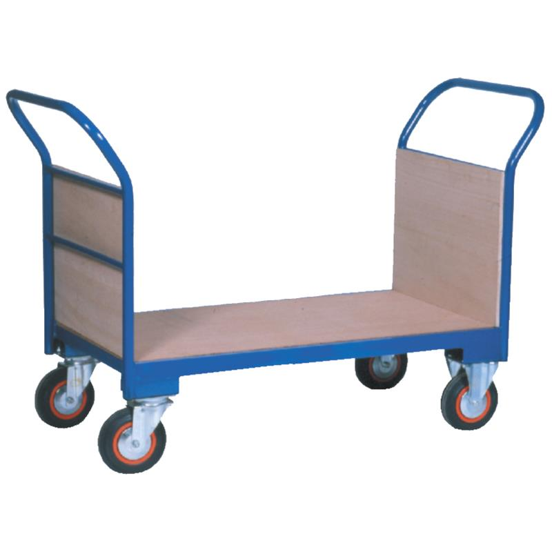 Warehouse Trolley Twin-Handled With Solid Ends