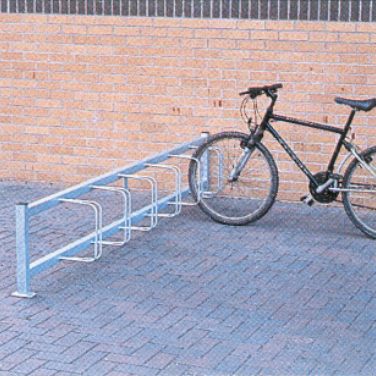 Single Sided Pillar Mounted Cycle Rack