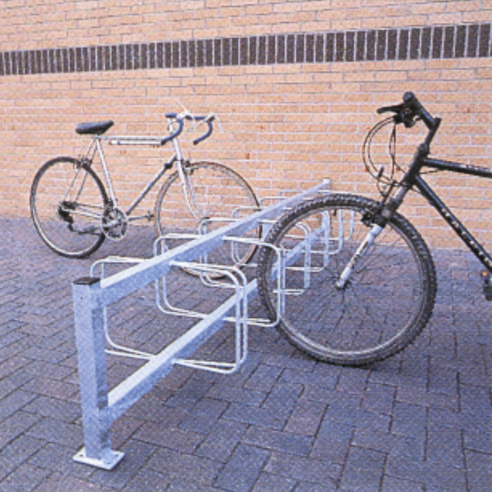 Double Sided Pillar Mounted Cycle Rack