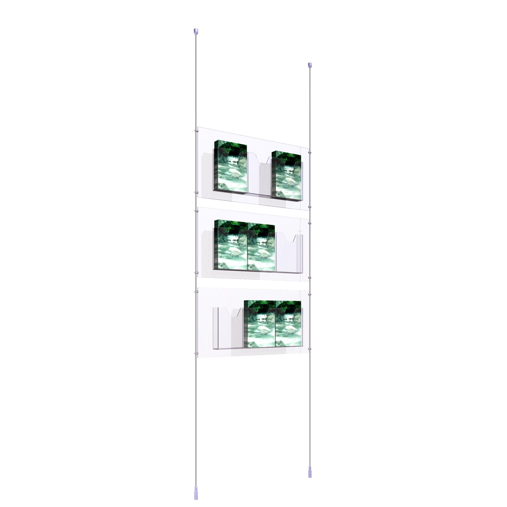 Ceiling to Floor Kit with 3 x Treble A5 Dispensers