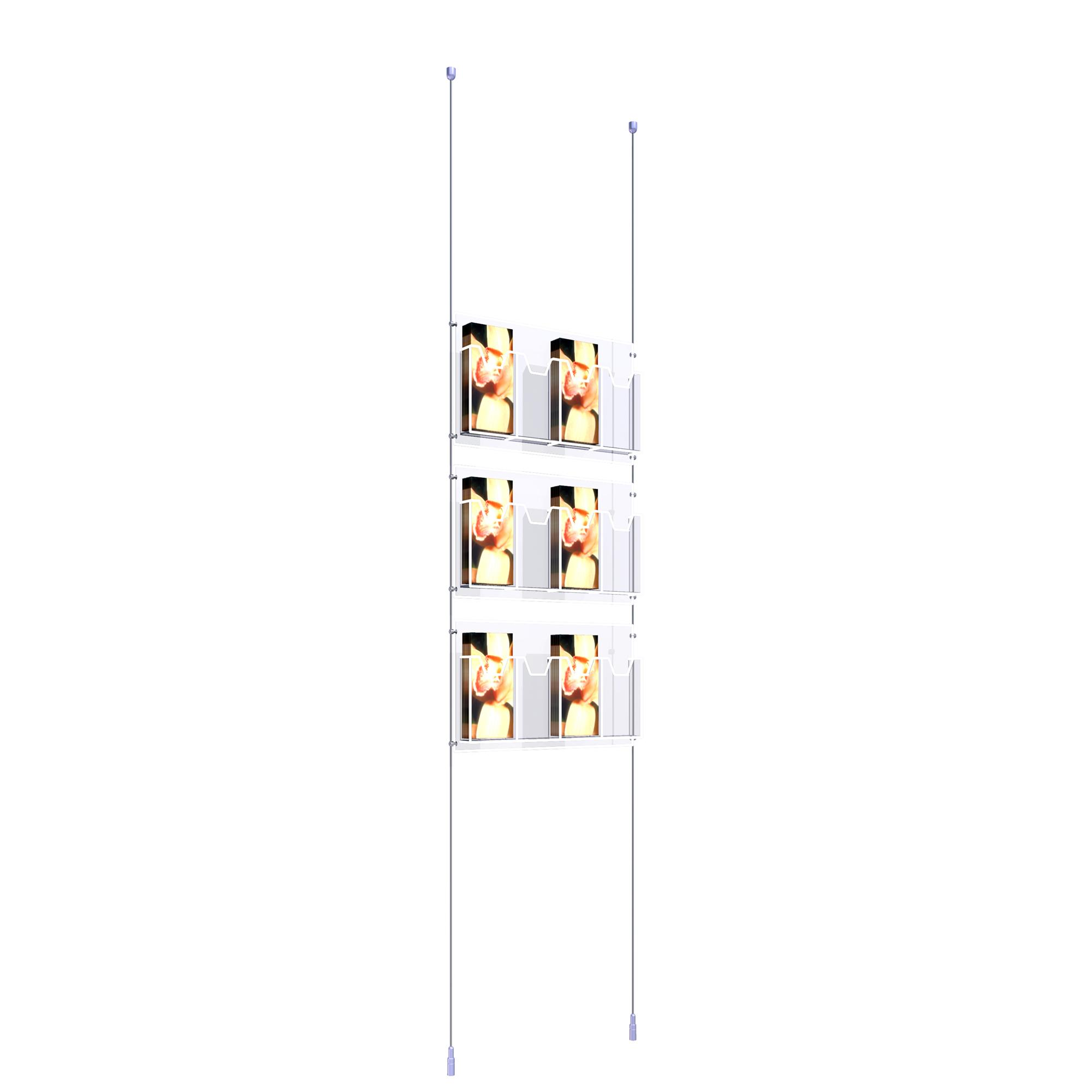 Ceiling to Floor Kit with 3 x Quadruple 1/3  A4 Dispensers