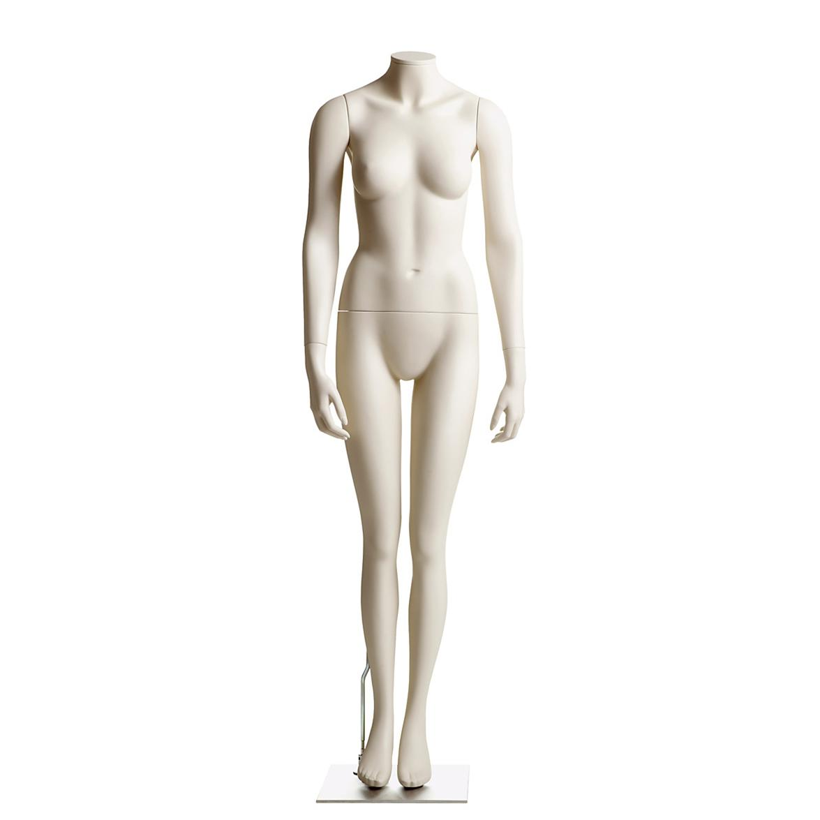 Female Headless Mannequin- Arms at Side, Legs Together