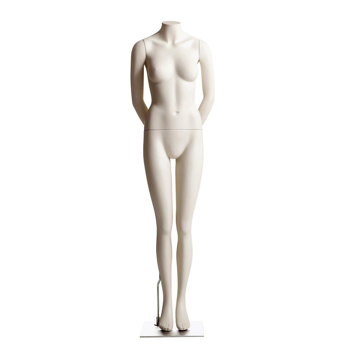Female Headless Mannequin- Arms Behind Back, Legs Together