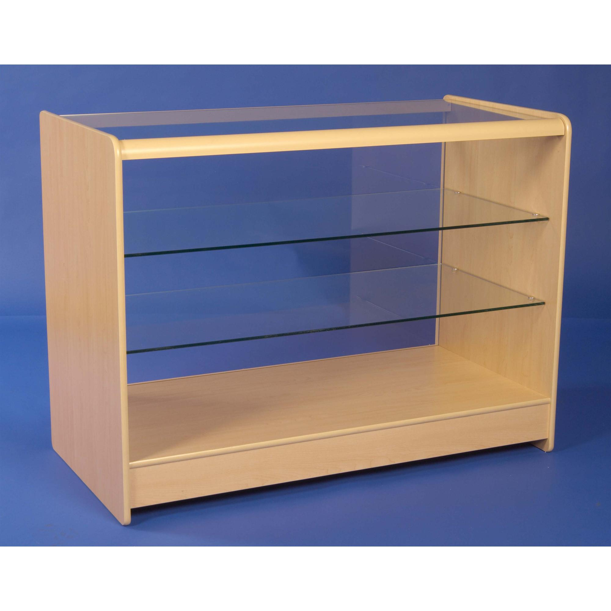 Flat Packed Full Glass Front Counter