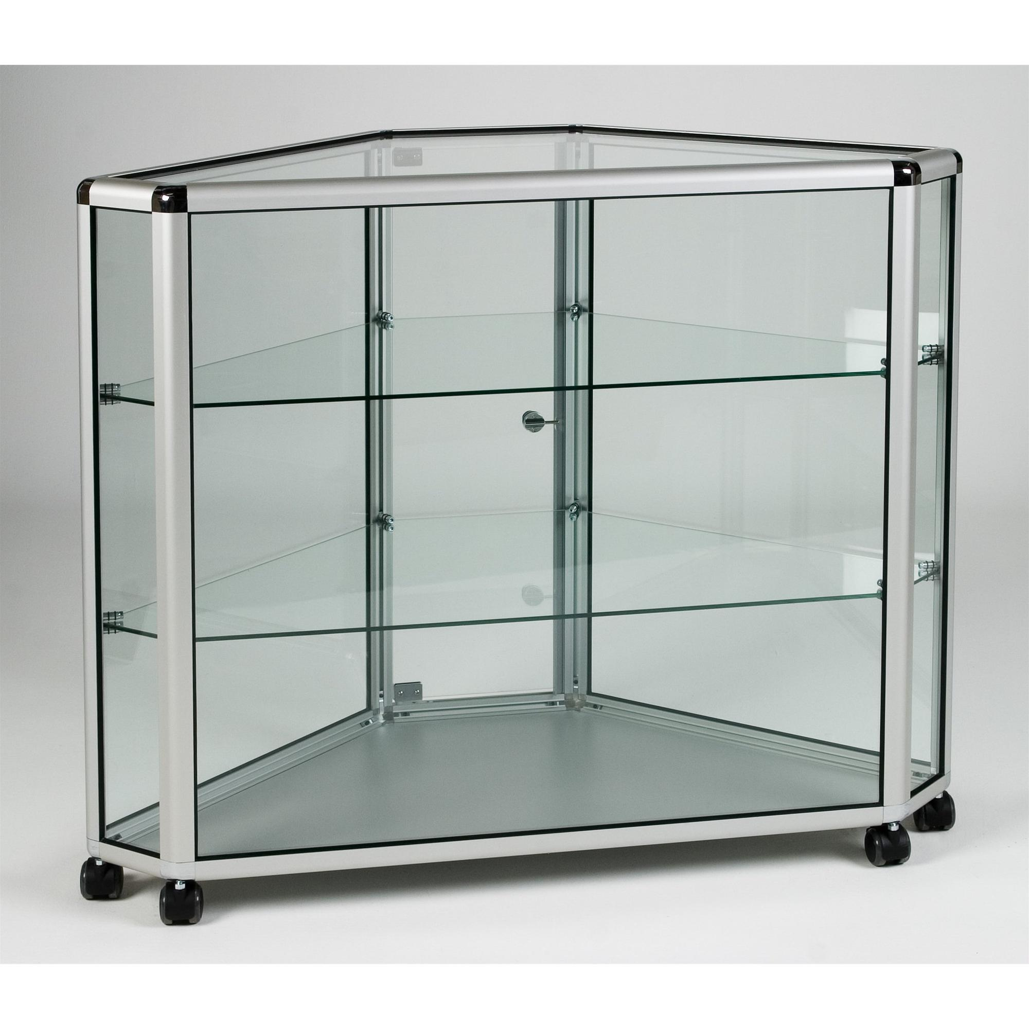 UB.022H Counter Full Display Corner Showcase > Aluminium & Glass ...