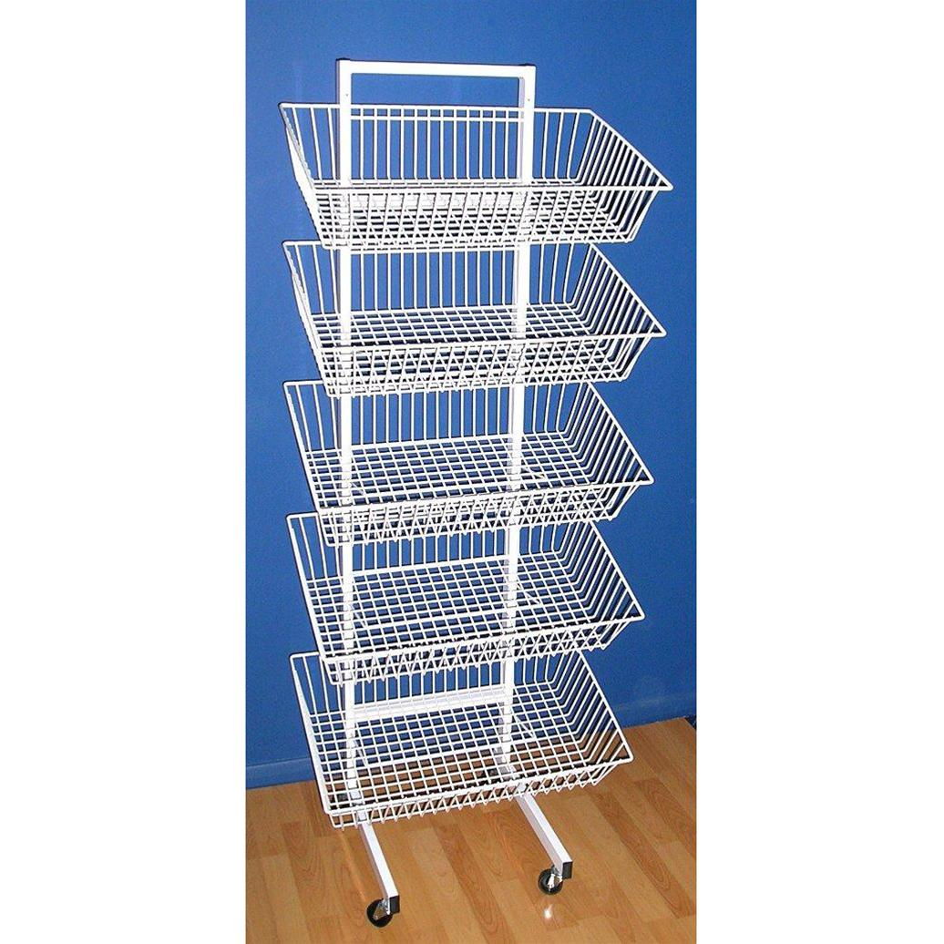5 Tier Stand (5 Baskets) > Wire Stands | ShopEquip.co.uk