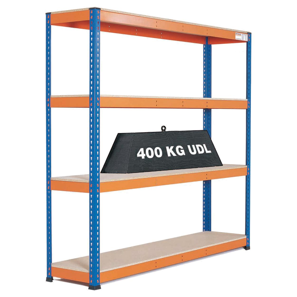 Heavy Duty Warehouse Shelving 4 Level Bay