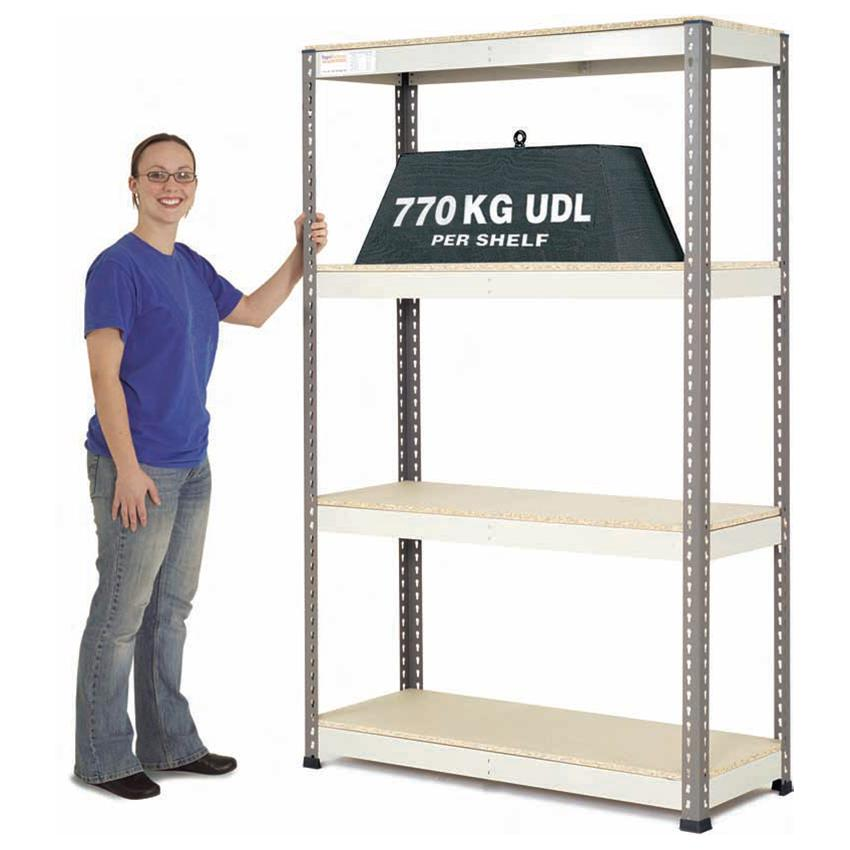 Extra Heavy Duty Warehouse Shelving 1.2m wide