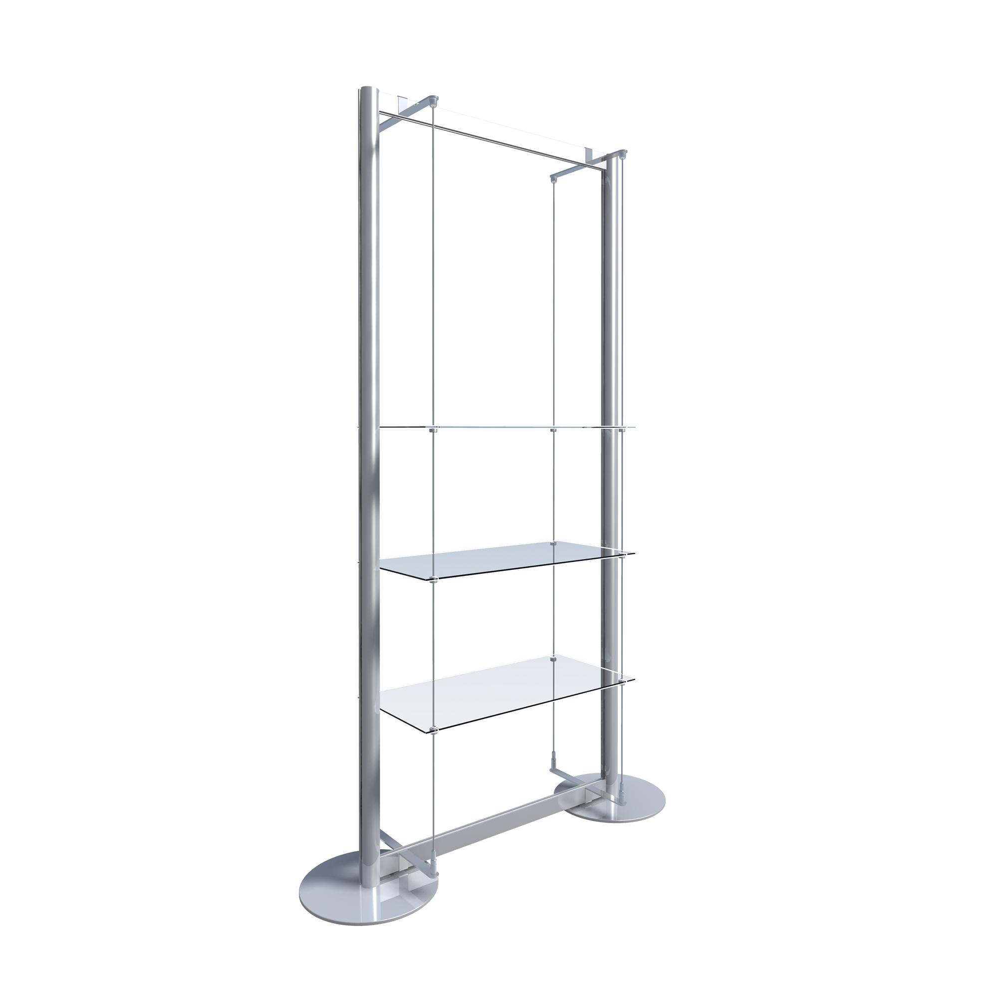 Freestanding Display with 3 Glass Shelves > Freestanding Window ...