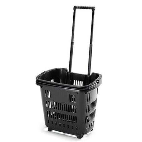 Trolley Shopping Basket Black 34 Litre 10-Pack