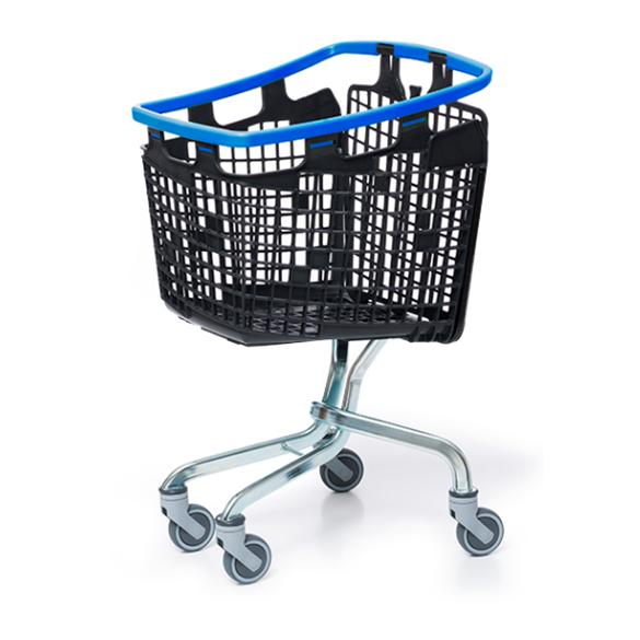 Plastic Shopping Trolley 100 Litre Blue Handle