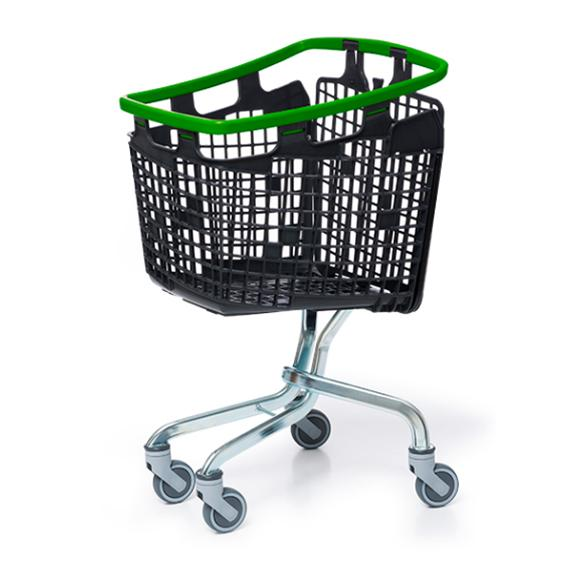 Plastic Shopping Trolley 100 Litre Green Handle