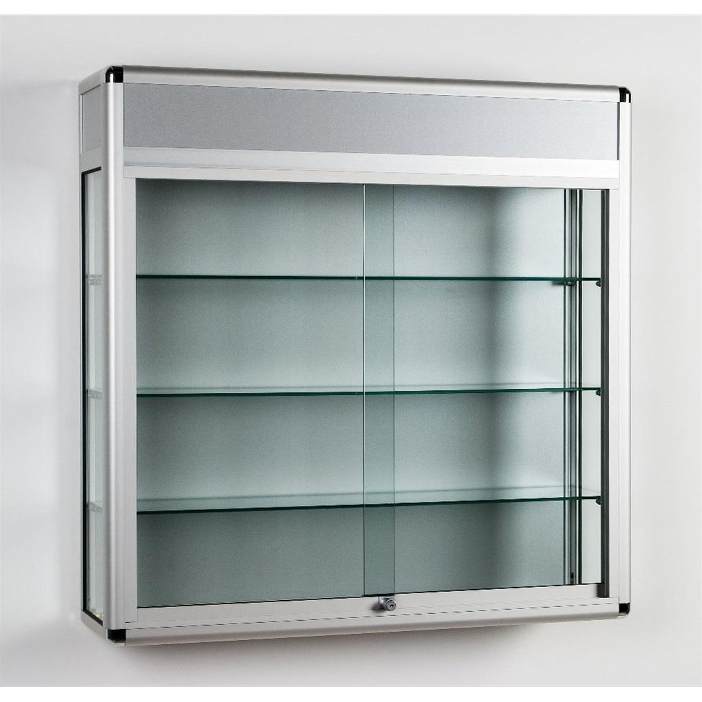 Wall Mounted Glass Display Showcase