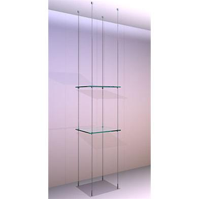 Ceiling/Floor Shelving Kit A3 Shelves x 2 High