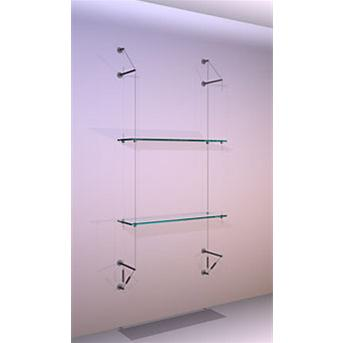Wall Mounted Shelving Kit A1 Narrow Shelves x 2 High