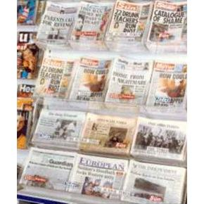 Newspaper Wall Display - Shelving Not Included