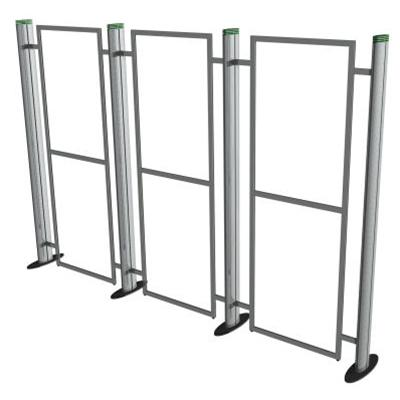 Exhibition Display Stands : Metro portable 3 section display stand u003e metro exhibition display