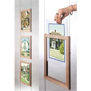 Wooden Pocket Frame poster Holders - Portrait
