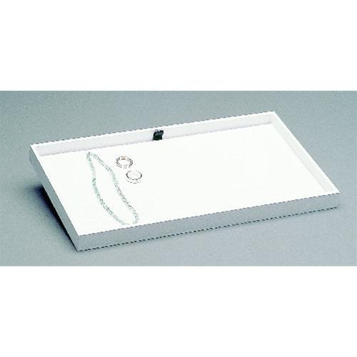 JEWELLERY DISPLAY TRAY WHITE IMITIATION LEATHER