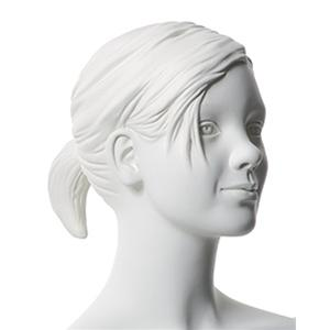Sophie With Sculptured Hair - White