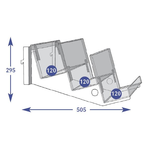 Multimedia Individual Shelves 3 Tier 120mm Linen