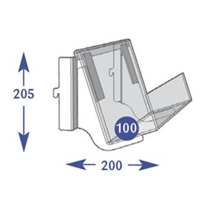 Magazine Individual Shelves - 1 Tier 100mm