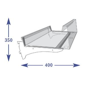 Adjustable Snacks - 350mm Shelf (to suit 400mm)