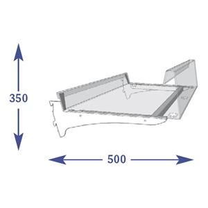 Adjustable Snacks - 450mm Shelf (to suit 500mm)