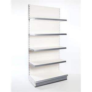 Supermarket Shelving -Single Sided Wall Bay