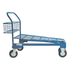 All Wire Powder Coated Cash & Carry Trolley With Basket