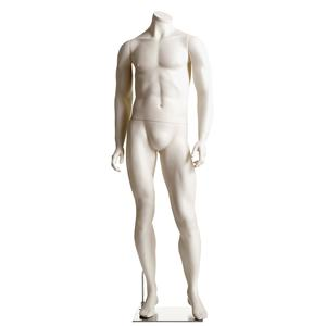 Male Headless Mannequin- Athletic, Arms at Side