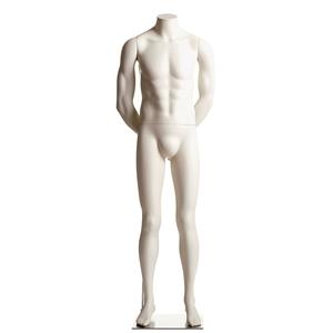 Male Headless Mannequin- Arms Behind Back