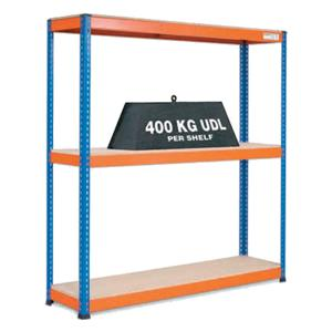 Heavy Duty Warehouse Shelving 3 Level Bay