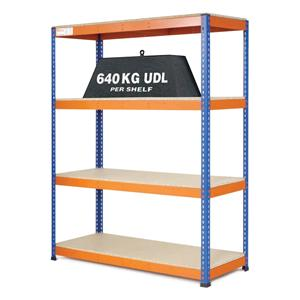 Extra Heavy Duty Warehouse Shelving 1.5m wide