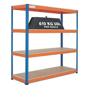 Extra Heavy Duty Warehouse Shelving 1.8m wide