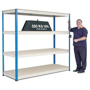 Extra Heavy Duty Warehouse Shelving 2.1m wide