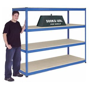 Extra Heavy Duty Warehouse Shelving 2.4m wide