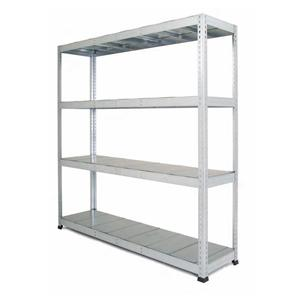 Galvanised Heavy Duty Warehouse Shelving with steel shelves