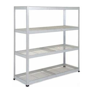 Galvanised Heavy Duty Warehouse Shelving with wire shelves