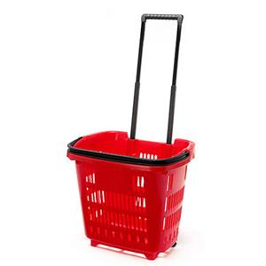 Trolley Shopping Basket Red 34 Litre 10-Pack