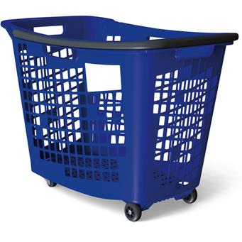 Trolley Shopping Basket Blue 55 Litre 7-Pack