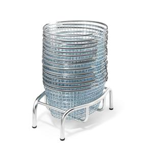 Luxury Oval Shopping Basket Stacker - Static