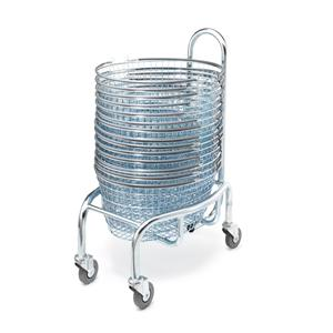 Luxury Oval Shopping Basket Stacker - Mobile