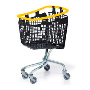 Plastic Shopping Trolley 100 Litre Yellow Handle